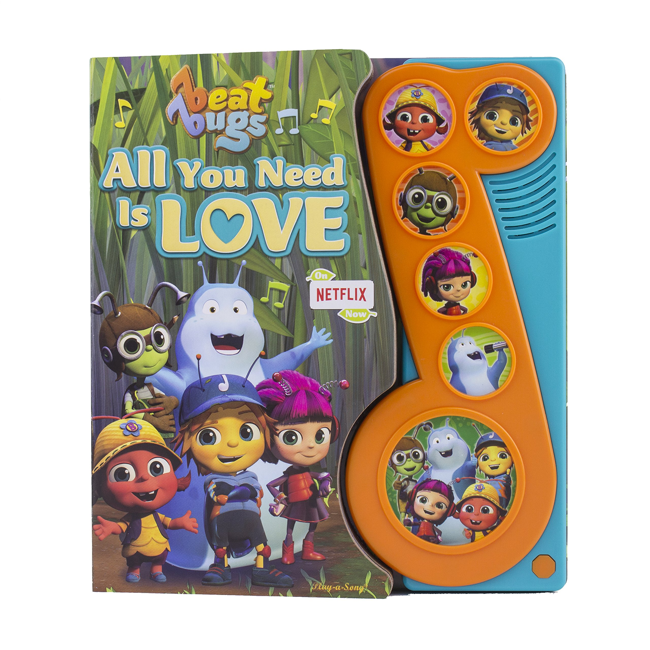 Amazon Com Netflix Beat Bugs All You Need Is Love Sound Book Play A Sound Pi Kids 9781503725584 Editors Of Phoenix International Publications Editors Of Phoenix International Publications Editors Of Phoenix International