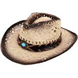 Simplicity Kid's Costume Party Cowboy Straw Hat with Decorated Headband
