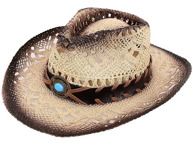 Amazon.com  Toppers Boys Summer Sun Hat Wide Brim UPF 50+ Kids Straw Cowboy  Hat  Clothing 2379ff64c3c9