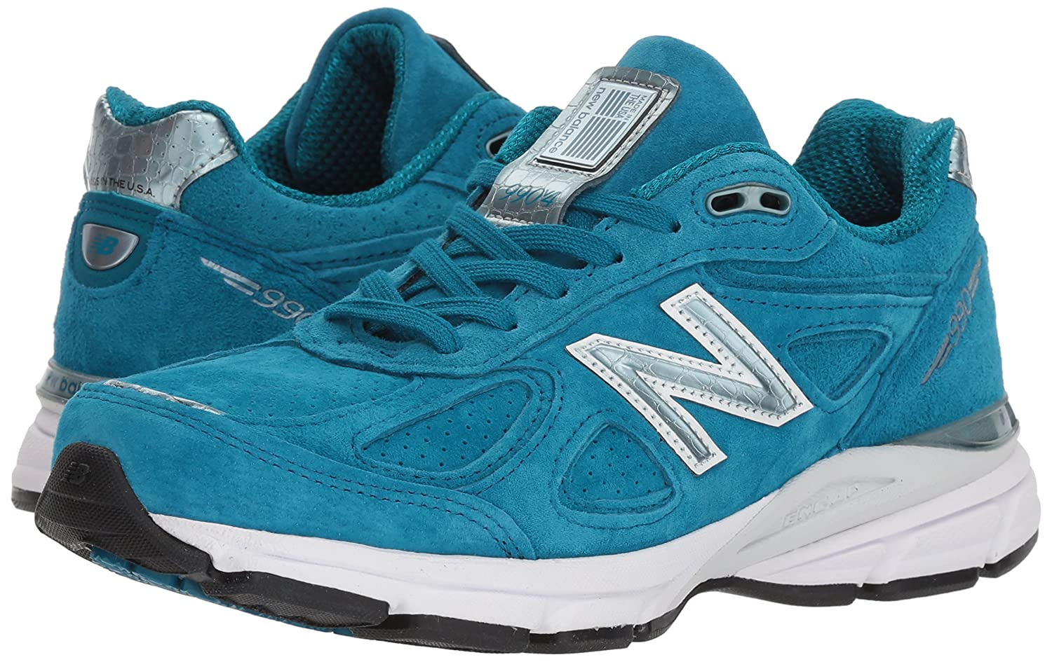 New Balance Women's 990v4 Running Shoe B071ZZGPSS 10.5 B(M) US|Lake Blue/Lake Blue