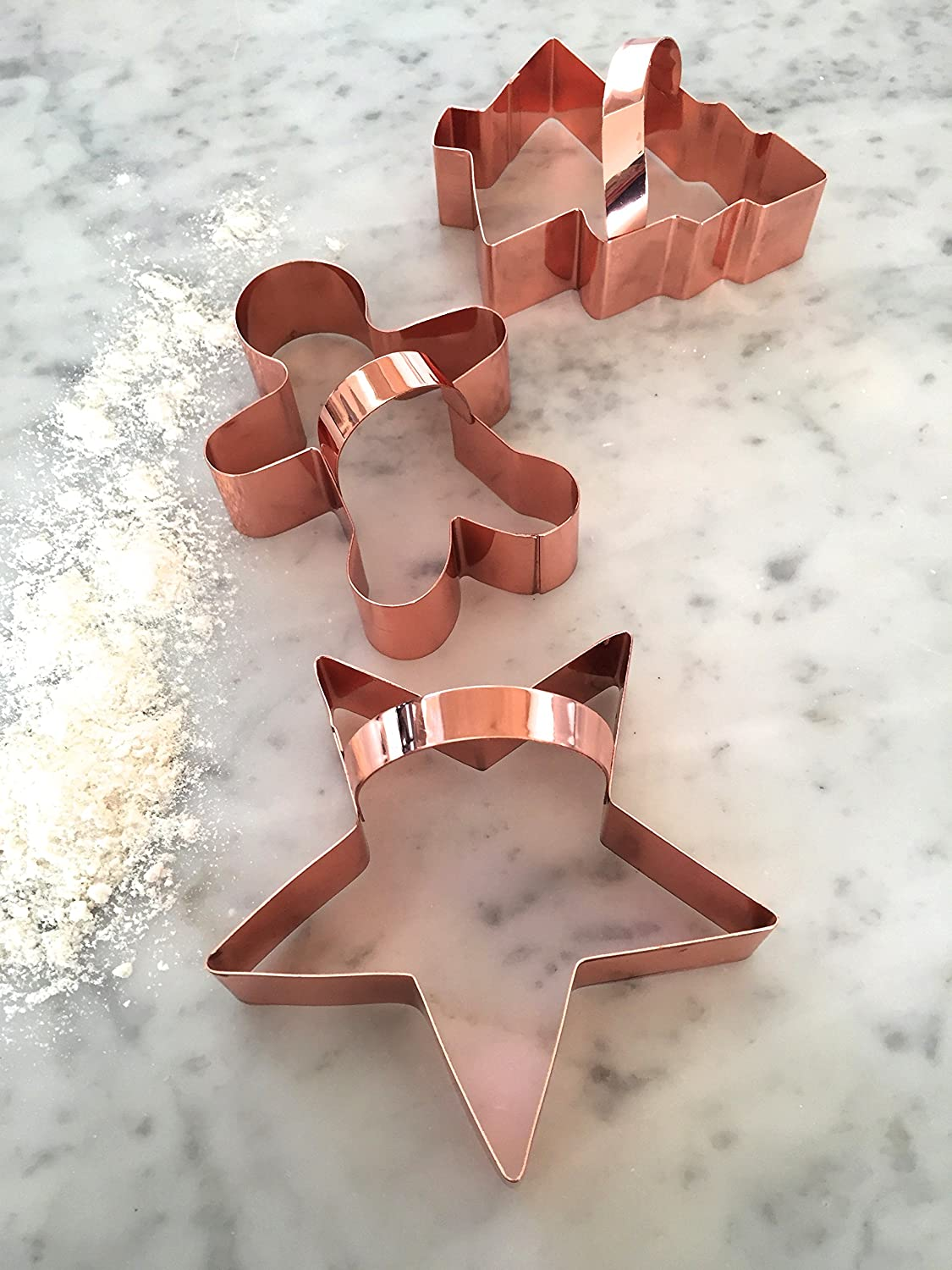 Copper Cookie Cutter Set