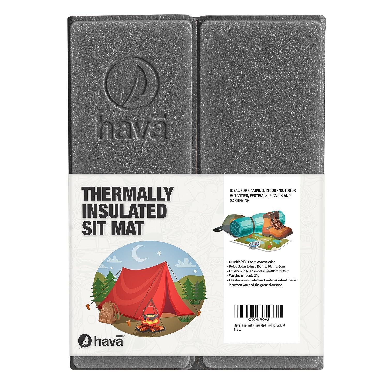 hava: Thermally Insulated Folding Sit Mat (Black): Amazon.co.uk ...