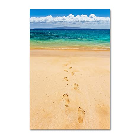 Amazon.com: Footprints in the Sand by Pierre Leclerc, 16x24-Inch ...