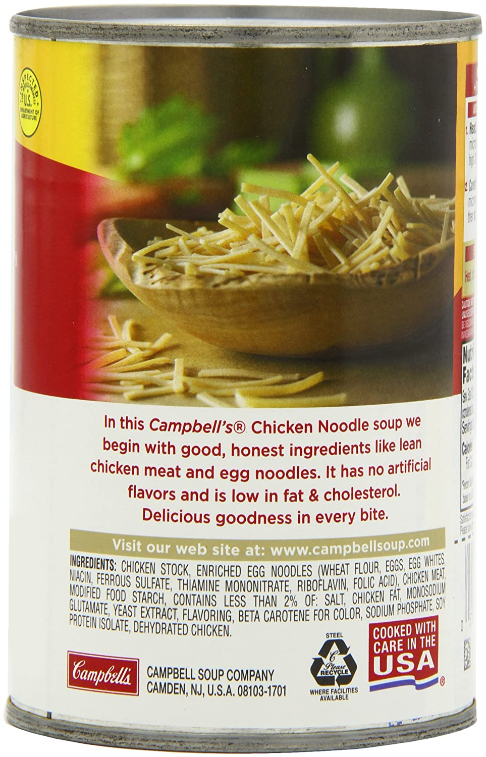Amazon Com Campbell S Chicken Noodle Soup 14 75 Ounce Cans Pack Of 12 Packaged Chicken Soups Grocery Gourmet Food