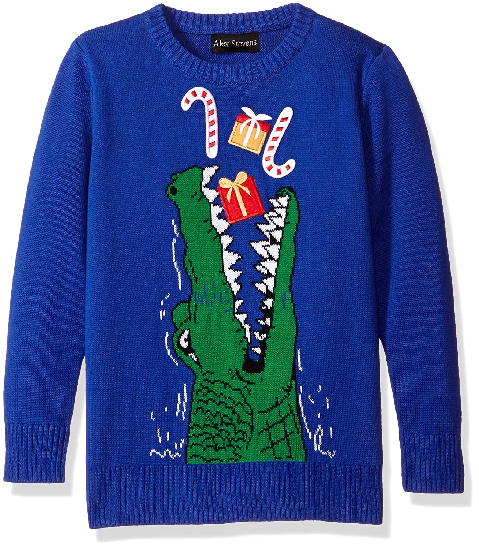 32337272cb92 Amazon.com  Alex Stevens Boys  Gator Gifts Sweater  Clothing