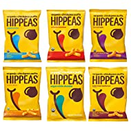 Hippeas Organic Chickpea Puffs, 6 Flavor Variety Pack, 4 oz (Pack of 24)
