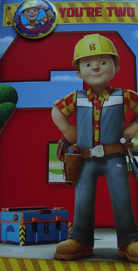 Bob, el constructor - 2 nd cumpleaños tarjeta Plus insignia ...