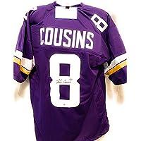 $129 » Kirk Cousins Minnesota Vikings Signed Autograph Custom Jersey Purple Steiner Sports Certified