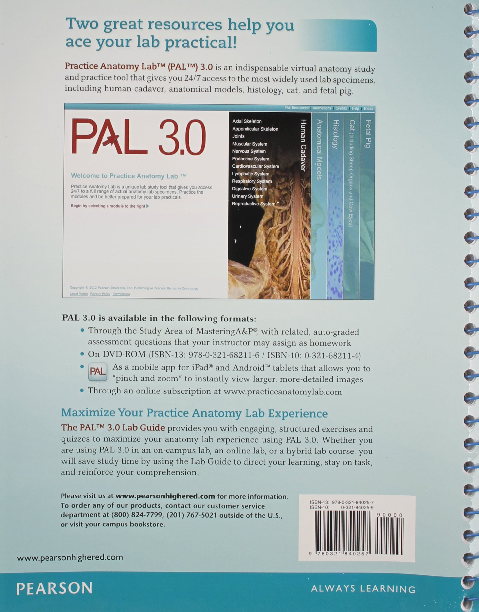 Practice Anatomy Lab 3.0 Lab Guide with PAL 3.0 DVD: Amazon.co.uk ...