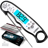 Kizen Instant Read Meat Thermometer - Best Waterproof Ultra Fast Thermometer with...