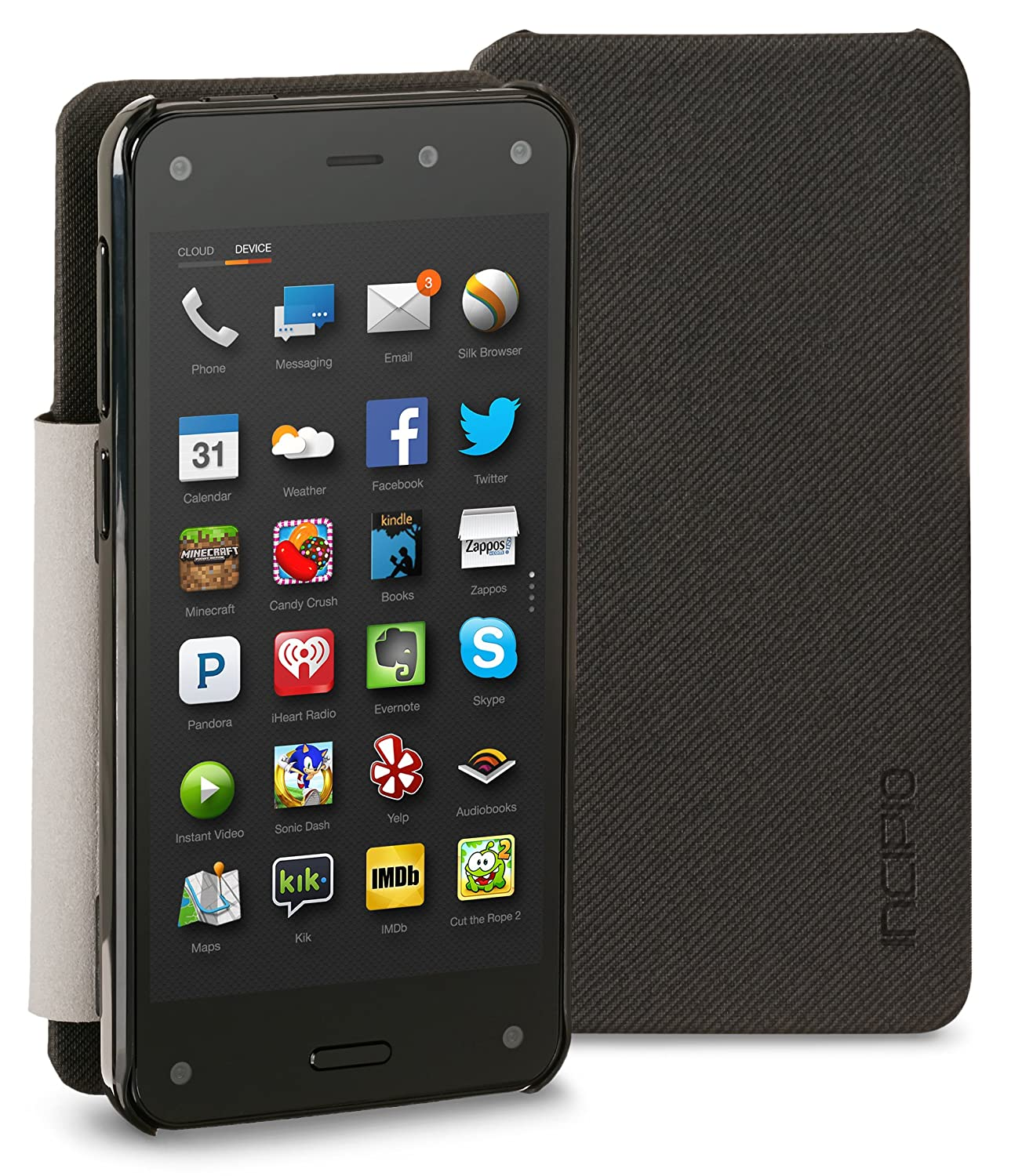 Incipio Highland Folio Case for Fire Phone, Black