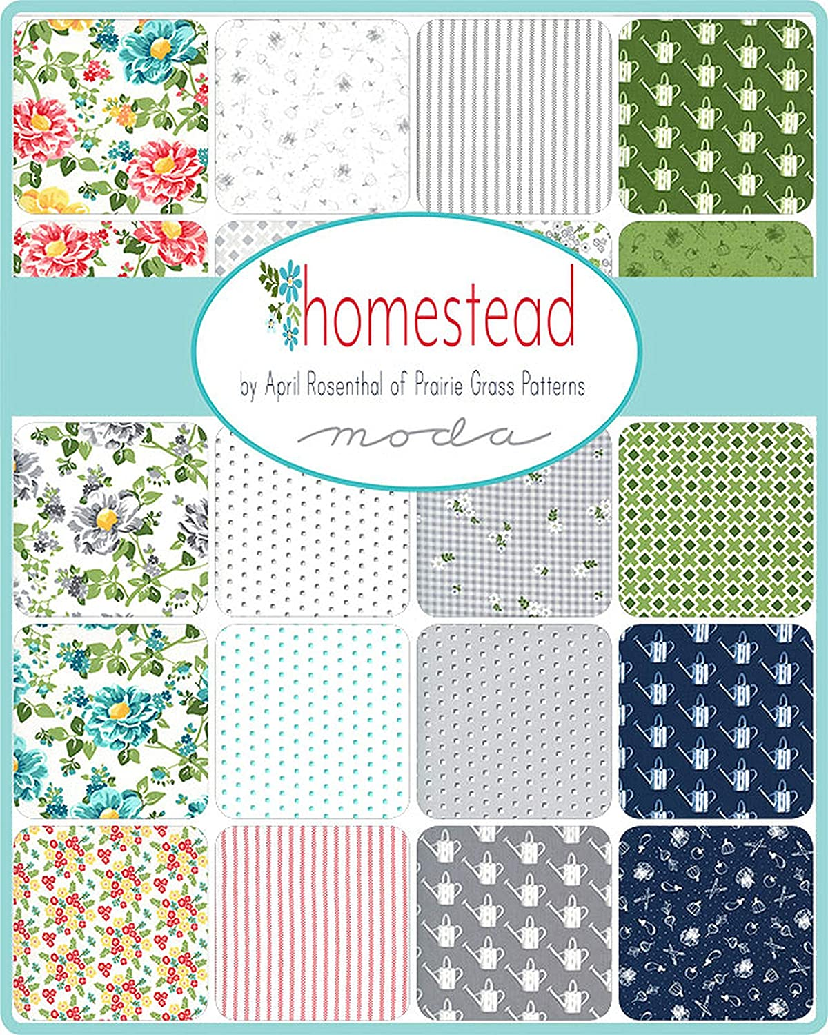 Homestead Layer Cake 42-10 Precut Fabric Quilt Squares by April Rosenthal of Prairie Grass Patterns