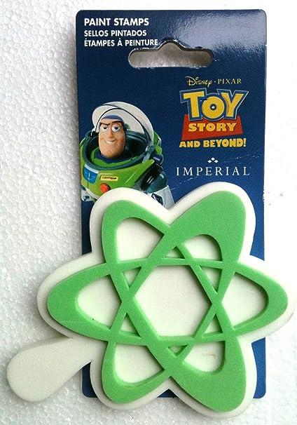 Disneys Pixar TOY STORY BUZZ LIGHTYEAR Foam Paint Stamp STAR SPACE