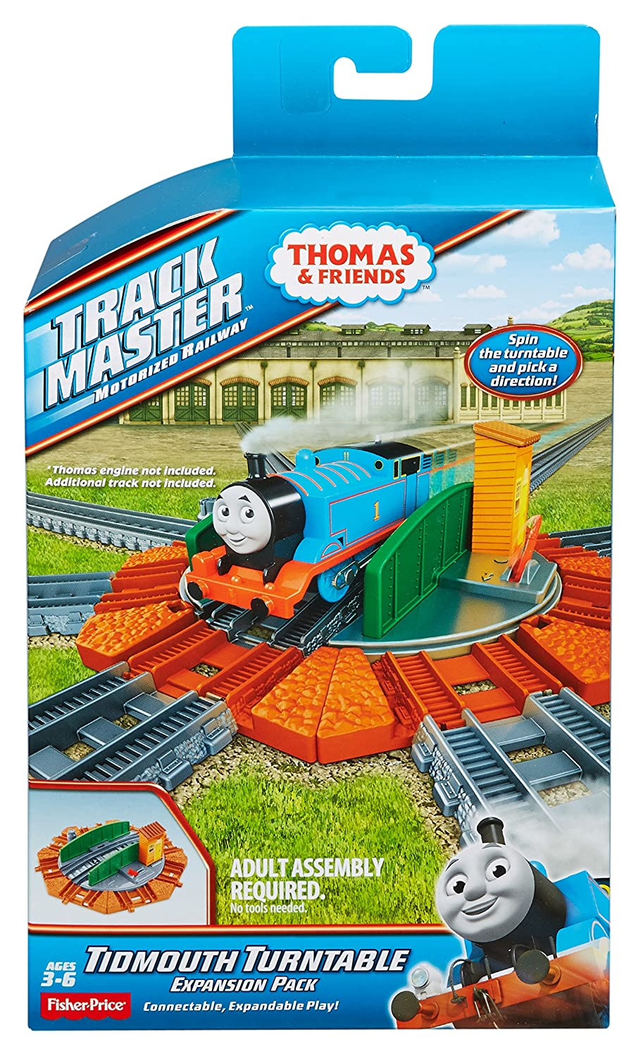 Terrific Fisher Price Thomas Friends Trackmaster Tidmouth Turntable Expansion Pack 8 Piece Home Remodeling Inspirations Genioncuboardxyz