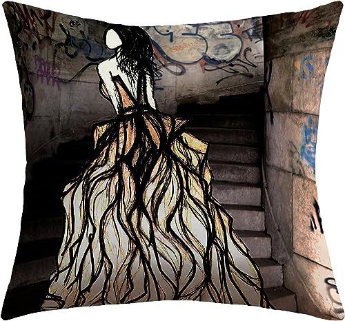 Deny Designs Amy Smith Escape Outdoor Throw Pillow, 20 x 20