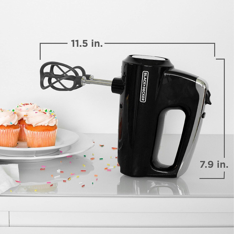 Case BLACK+DECKER MX600B Helix Performance Premium 5-Speed Hand Mixer Renewed 5 Attachments Black