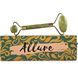Allure Essentials Premium Jade roller - 100% Real Natural Jade Roller For Face - Reduces Swelling, Stress Reliever, Face Massager, and Neck Massager.