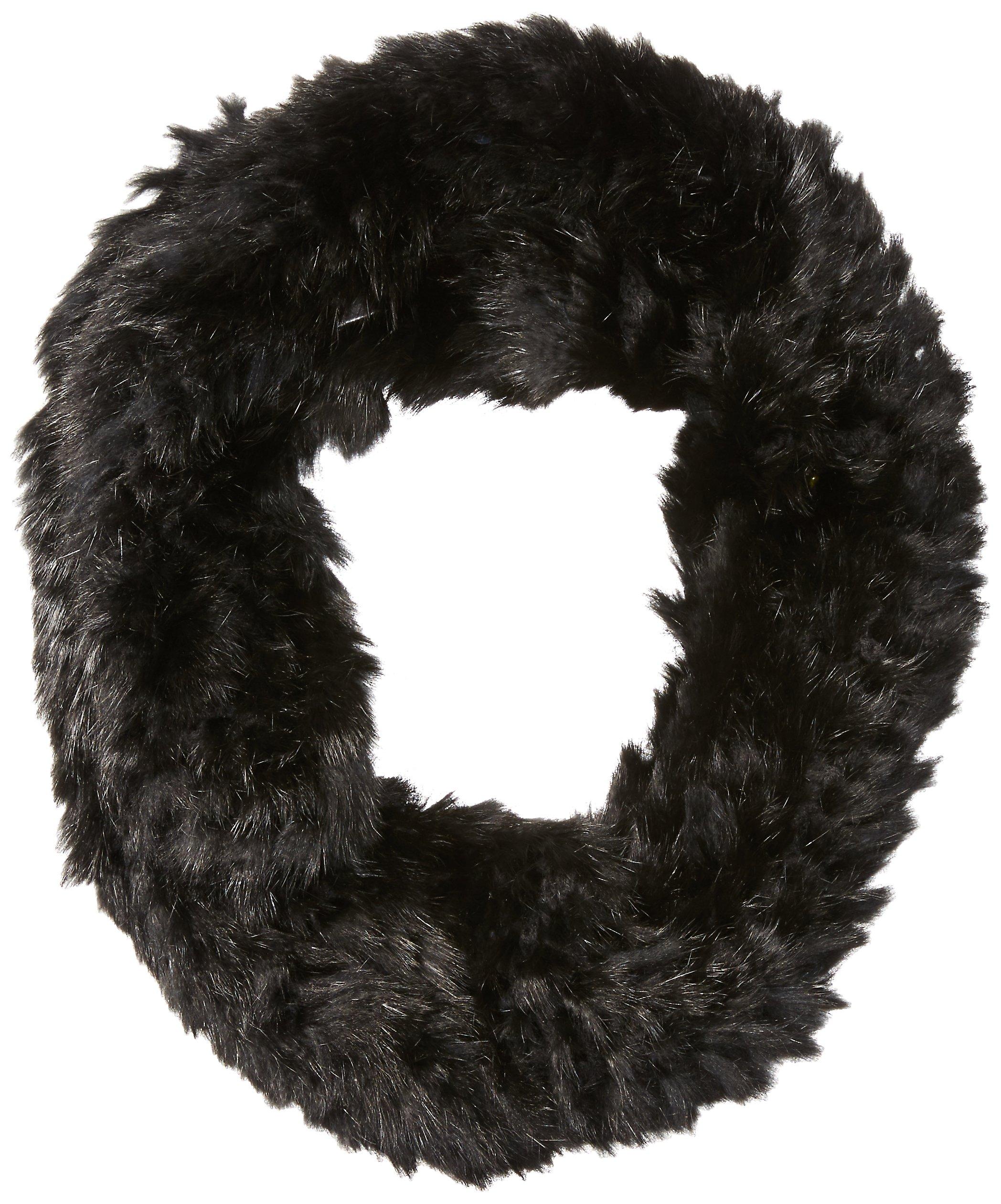 RUDSAK Women's Nantes Fur Eternity Scarf, Black/Black, One Size