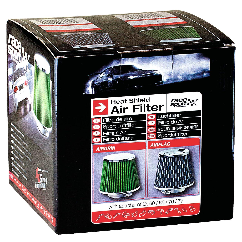 Sumex Airflag - Filtro Aire Universal con Adaptador, Negro: Amazon.es: Coche y moto