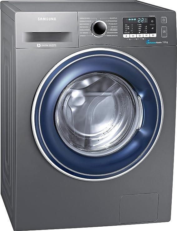 Samsung WW70J5435FX/EG Waschmaschine Frontlader / A+++ / 1400 UpM / 7kg / 85 cm Höhe / grau / Digital Inverter Motor