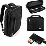 Microsoft Surface Pro 4 / Pro 3 / Pro 5 Lightweight Nylon Messenger Bag Convertible To Backpack Plus Includes USB Multi Memory Card Reader