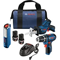 Bosch GXL12V-310B22 12V Max 3-Tool Combo Kit with 3/8 In. Drill/Driver