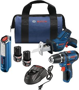 Bosch GXL12V-310B22 12V Max 3-Tool Combo Kit