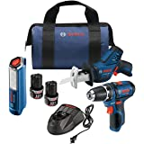 Bosch Power Tools Combo Kit GXL12V-310B22 - 12V Max 3-Tool Set with 3/8 In. Drill/Driver, Pocket Reciprocating Saw and LED Wo