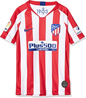 NIKE ATM Y Nk BRT Stad JSY SS Hm Camiseta Fútbol, Unisex niños, Sport Red/White/(Deep Royal Blue) (Full Sponsor), XS: Amazon.es: Ropa y accesorios