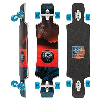 Sector 9 Ledger Complete 40 Inch Maple Top Mount Longboard for Carving and Commuting : Sports & Outdoors