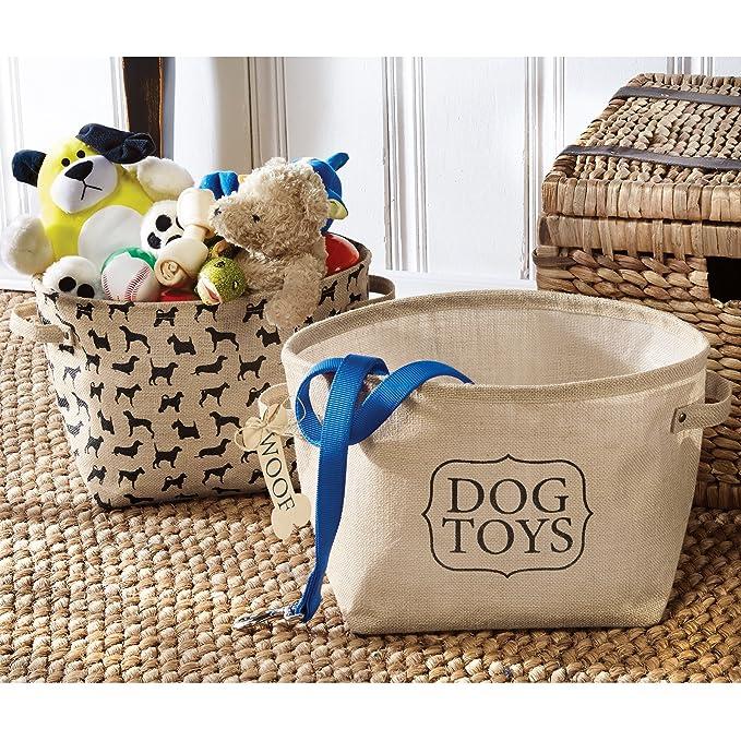 Amazon.com: Mud Pie Dog Toy Baskets (Set of 2): Home & Kitchen