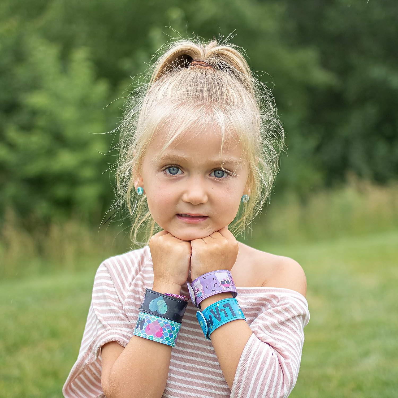 Glitter Slap Bracelets w// 3D Mermaid Unicorn Easter Basket Stuffers Birthday Party Favors Snap Bracelet Pack Changes Patterns When Moved 6 Cute Slap Bracelets for Kids Llama /& Corgi Designs
