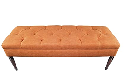 Marvelous Mjl Furniture Designs Claudia Collection Upholstered Diamond Tufted Bedroom Accent Bench Key Largo Series Terracotta Spiritservingveterans Wood Chair Design Ideas Spiritservingveteransorg