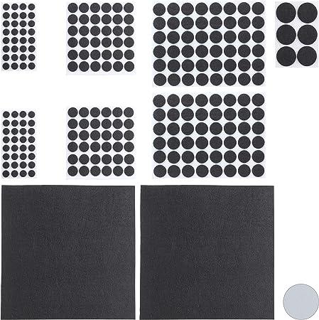VOSAREA Feltrini per Sedie Quadrato Feltrini Adesivi Antirumore per Mobilia Tavolo Protezione AntiGraffio Autoadesiva 2x2cm