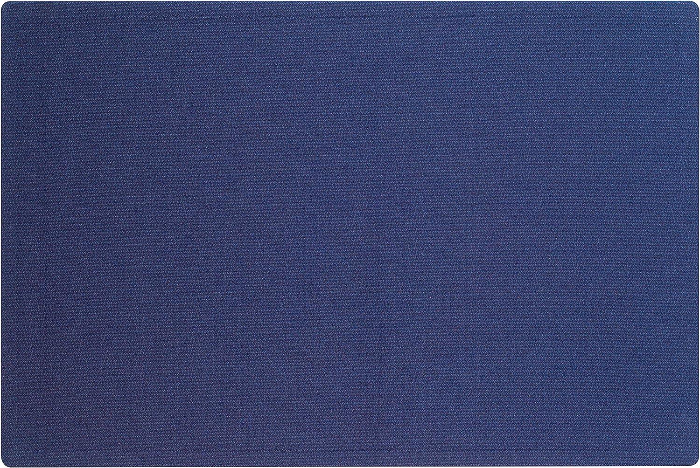 Quartet Bulletin Board, Fabric, 4' x 3', Frameless, Fiberboard, Oval Office, Indigo Blue (7684IB)