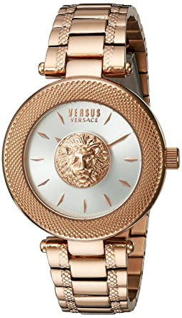 Versus by Versace Womens BRICK LANE Quartz Stainless Steel Casual Watch, Color: