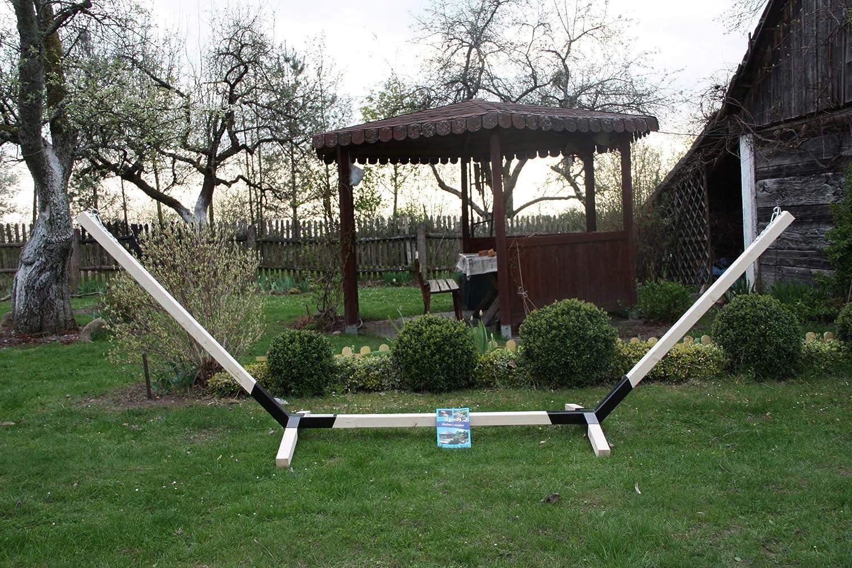 Megaastore - Estructura para hamacas de madera de haya (hasta 150 kg, 320 cm de ancho): Amazon.es: Jardín