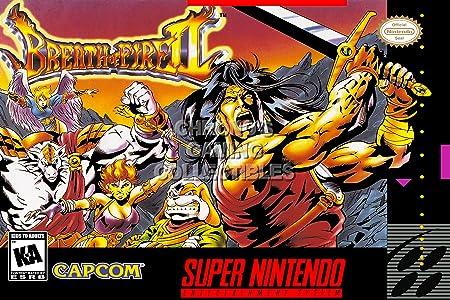 CGC enorme cartel - aliento de fuego II - Super Nintendo ...