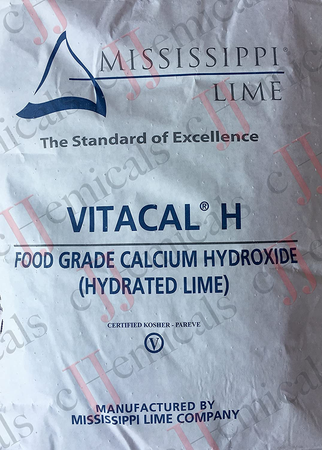 Calcium Hydroxide FOOD GRADE Minimum 99% purity! 50LB BAG