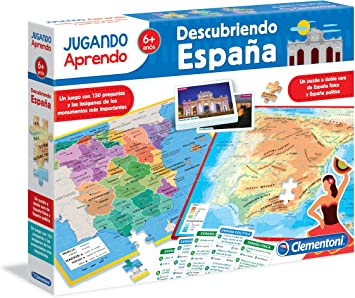 Clementoni - Jugando aprendo, descubre España (55119.4): Amazon.es: Juguetes y juegos