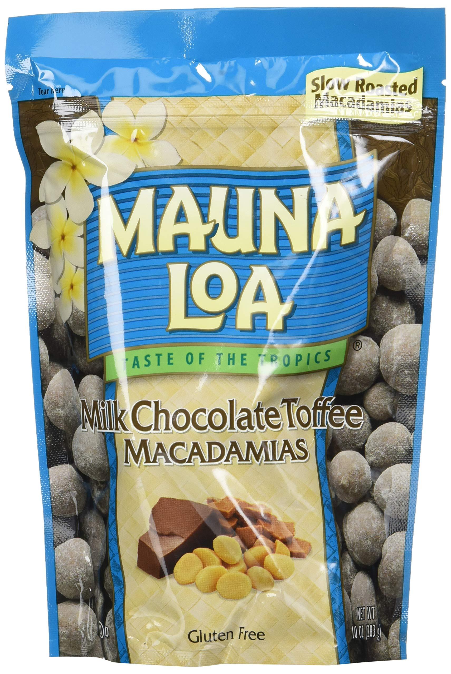 Mauna Loa Macadamias, Milk Chocolate Toffee, 10 Ounce