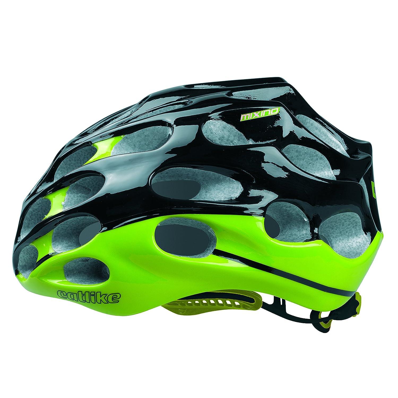 Catlike Mixino Fahrradhelm schwarz grün Dual Flow Größe S (52 - 54 cm) CES, ARC und Grafeen Technologie
