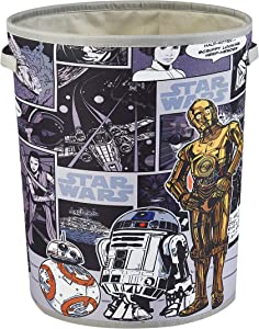 Idea Nuova Star Wars Circular Storage Bin with Handles, Multi