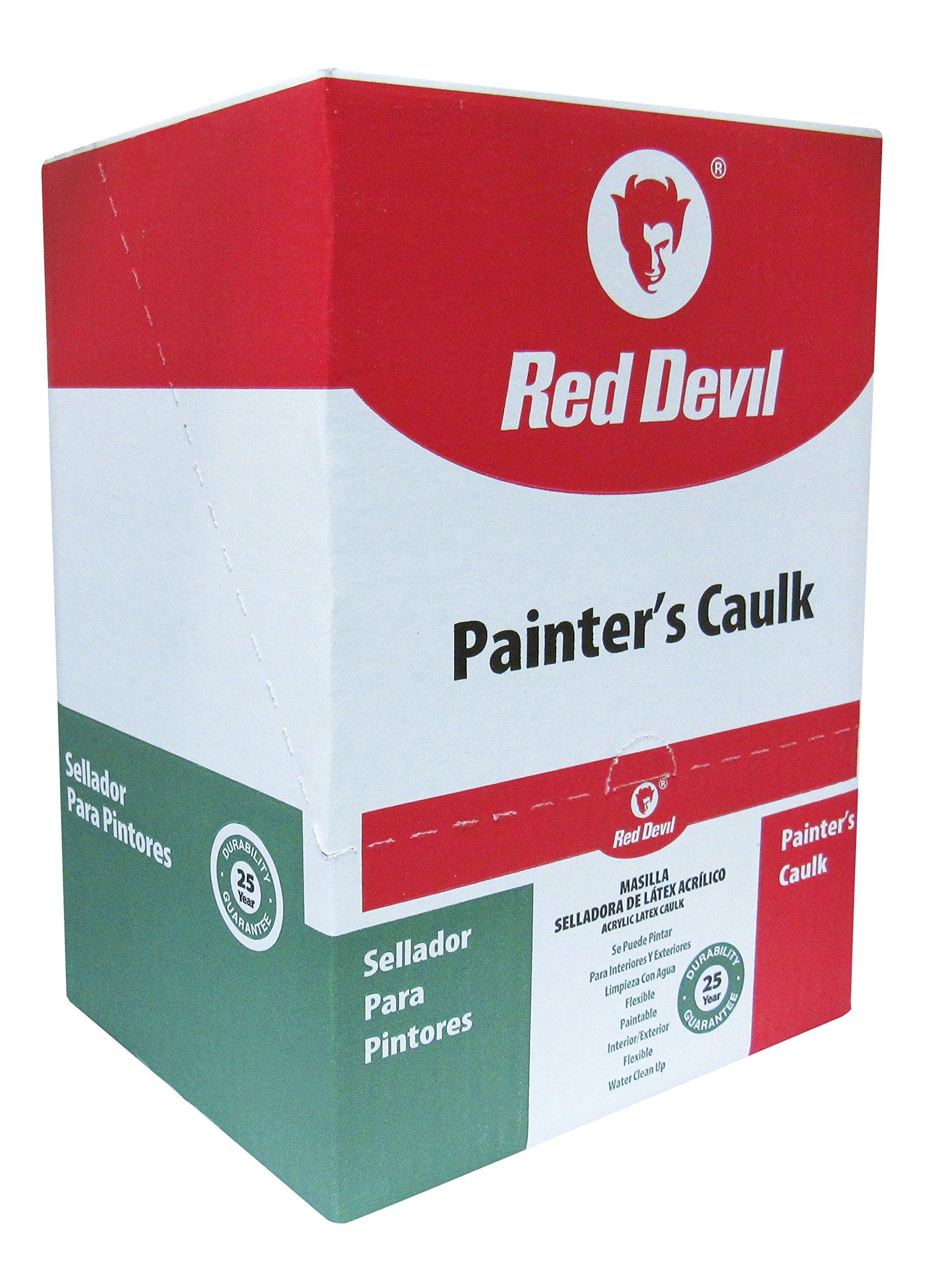 Red Devil Painters Caulk White, 10.1 Oz, Case of 12