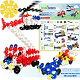 VIAHART Brain Flakes Building Kit with Detailed Step by Step Instructions! | 580+ PCS to Build All 3 Vehicles! | Wheel Pieces & Special Parts are Included! | Ages 7+