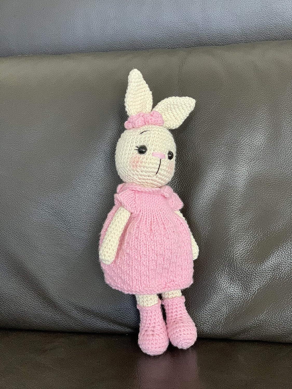 Easter bunny Easter Pink rabbit Easter egg Rabbit crochet Amigurumi bunny Amigurumi hare Handmade bunny Easter gift halloween crochet toy