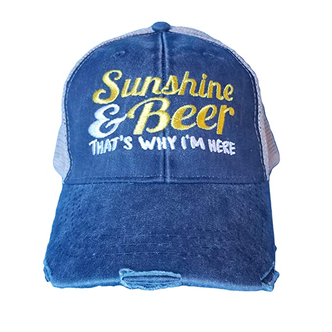 a1c116ccacb Wicked Vine Stitching Cap Sunshine and Beer That s Why I m Here Navy ...