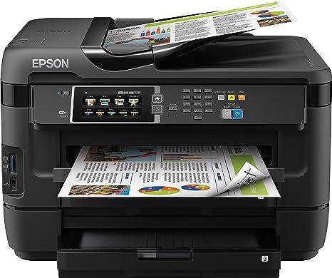 Epson Workforce WF-7620DTWF - Impresora multifunción de Tinta (WiFi, WiFi Direct y Ethernet), Color Negro, Ya Disponible en Amazon Dash Replenishment