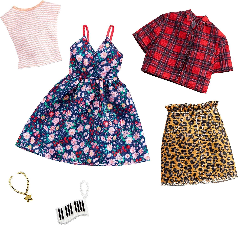 Amazon.es: Barbie Pack de Accesorios de Moda Vestido con Estampado ...