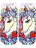 Hindom Unicorn Sock Low Cut Ankle Socks 3D Cartoon Funny Casual Crazy Cute Amazing Novelty Print Boat Socks